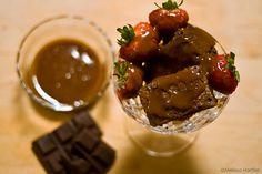 Kahlua Brownies and Salted Caramel Sauce