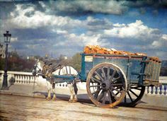 Photos couleurs très rares deParis au début du 20ème siècle. Toutes les couleurs des images ont été restituées grâce à …