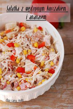 Galeria Smaku: Sałatka z wędzonym kurczakiem i ananasem Strudel, Mozzarella, Feta, Salads, Grains, Food And Drink, Rice, Breakfast, Recipes