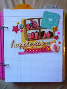 miniature layout in a SNAP simple stories album, created for Colorful creations challenge