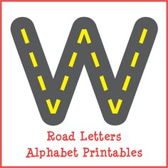 Free Road Letters Alphabet Printables from Gift of Curiosity