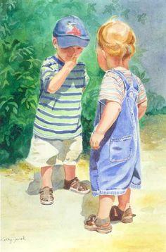 Dylan & Kyle Watercolor portrait