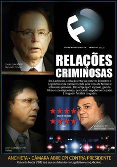 Capa da FOLHA sobre relações incestuosas entre políticos para cooptação de lideranças.