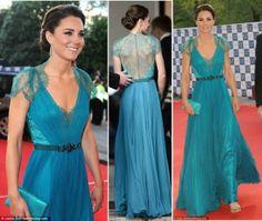 Love Kate's teal dress... London Olympic Games Gala