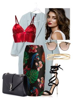 """Untitled #5421"" by dede ❤ liked on Polyvore featuring Boutique, Bordelle, Valentino, Gianvito Rossi, Christian Dior, Kerr®, Yves Saint Laurent and Nadri"