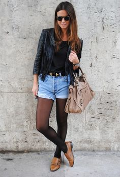 3b13a894568 Leather Jackets - A Timeless Trend - Fashion Diva Design Shorts With Tights
