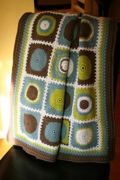 Loving the colors on this one! Revelry: tamscrap's Gavin's Baby Blanket
