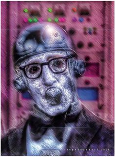 Woody Allen by Henstepbatbot Woody Allen, Digital Art, Stars, Portrait, Fictional Characters, Headshot Photography, Sterne, Portrait Paintings, Fantasy Characters