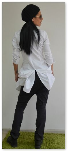 White cotton shirt / Fitted Extravagant shirt / White blouse by ClothesByLockerRoom on Etsy https://www.etsy.com/uk/listing/257021120/white-cotton-shirt-fitted-extravagant