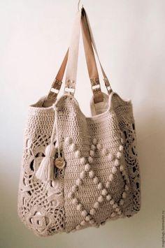 Crochet Diy, Crochet Tote, Crochet Handbags, Crochet Purses, Love Crochet, Crochet Crafts, Crochet Shell Stitch, Crochet Stitches, Handmade Handbags