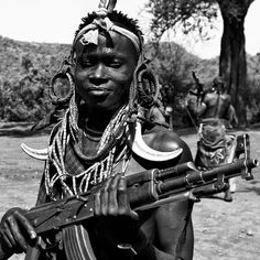 'The Mursi tribe are an African tribe from the isolated Debub Omo Zone in Southern Ethiopia near the border with Sudan. The Mursi have a reputation for being one of the more aggressive African tribes. Similar to the Hammer tribe, the Mursi tribe commonly drink a mixture of blood and milk as do other African tribes in the region.'
