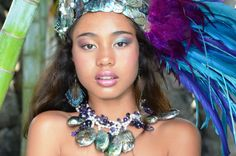 Breathtaking Tahitian Headdress/Costume  CUSTOM orders only contact designer prior to ordering  Model: Angelina