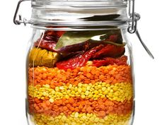 Curried Lentil Soup in a Jar Give the gift of hot soup this holiday season, but one the lucky recipient can make when they please. This warmly spiced lentil soup will we welcomed during the long winter months.