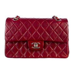Pre-Owned Chanel 2.55 Small Double Flap Bag ($2,500) ❤ liked on Polyvore featuring bags, handbags, shoulder bags, purses, chanel, accessories, chain shoulder bag, quilted purse, chanel purses и chain strap purse