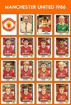Alex Ferguson - Panini - 1986 - Manchester United