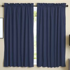 63 in. Curtain Panels in Navy Blue