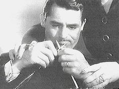 Cary Grant knitting (or trying to) in a particular motion picture but cannot remember which one