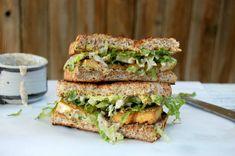 Baked Tofu Caesar Sandwich #Vegan