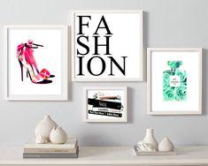 Fashion set print, coco chanel perfume print, christian louboutin shoes wall art, fashion books poster, heels print, floral fashion, make up by S4StarSbySiSSy on Etsy https://www.etsy.com/ca/listing/400299803/fashion-set-print-coco-chanel-perfume