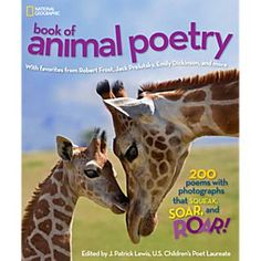 Best animal adventure books: National Geographic Book of Animal Poetry by J. Patrick Lewis #Books #Animals