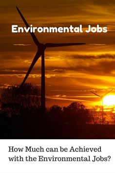The concept of #environmental #jobs is nothing new or complex to understand, but it does have a background that relates with a theme to make things GO GREEN!