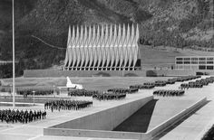 US Air Force Academy Cadet Chapel, Colorado | SOM | Photo : Stewarts Commercial Photography