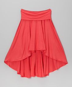 Look at this Coral Hi-Low Skirt on #zulily today!