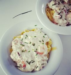 Une recette de pâtes aux scampis et au mascarpone prête en moins de 30 minutes... Une recette rapide et délicieuse...