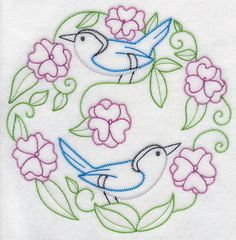 Pair of Nuthatches (Vintage)