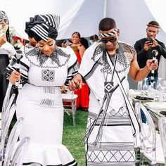 A Xhosa Engagement - South African Wedding Blog African Wear Dresses, Emo Dresses, Party Dresses, African Traditional Wear, Traditional Outfits, Xhosa Attire, African Wedding Attire, Traditional Wedding Decor, South African Weddings