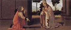 Lorenzo di Credi (attr.) - San Donato e il gabelliere, predella della Madonna di Piazza - c. 1485  - Worcester Art Museum di Worcester