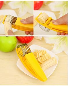 Stainless Steel Banana Slicer - Great for cucumbers too at Go Go Kitchen Gadget in Slicers