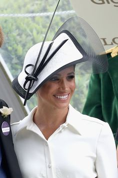 Notice how the crin edge makes this hat appear larger than it is. #judithm 70 Best Royal Hats in History - Most Memorable Royal Family Fascinators