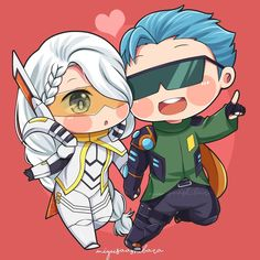 Our lovely sweet couple, Gussion and Lesley. Comment down below who's your favourite couple 👇👇👇 (I need Mlbb couple ideas for my next… Sweet Couple Cartoon, Chibi Couple, Kids Cartoon Characters, Chibi Characters, Mobile Legend Wallpaper, Hero Wallpaper, Kawaii Chibi, Cute Chibi, Anime Girl Neko