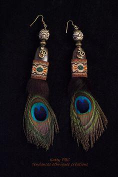 Boucles d'oreilles ethnique plumes Alaska par Tendancesethniques