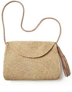 Fair Trade Natural Raffia Sand Crossbody Bag, Handwoven in Madagascar – The…