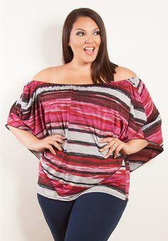Plus Size Tops | Clarabelle Multi viselni tetejére | Swakdesigns.com