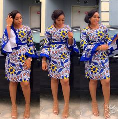 The complete pictures of latest ankara short gown styles of 2018 you've been searching for. These short ankara gown styles of 2018 are beautiful Unique Ankara Styles, Ankara Short Gown Styles, Short Gowns, Ankara Gowns, Ankara Dress, African Print Dresses, African Fashion Dresses, African Dress, Ankara Fashion