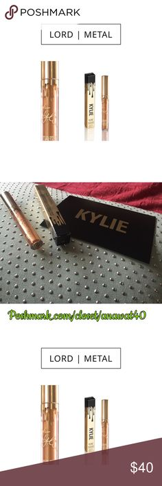 Kylie Lord Metal Birthday Limited Edition Kylie created the #KylieCosmetics Metal Lipstick as another secret weapon to help you create the perfect 'Kylie Lip.' Lord is a true metallic gold created as a part of the Limited Edition Birthday Collection. This special shade contains real gold in honor of Kylie's 19th birthday and is sold in limited edition gold packaging. Liquid lipstick meets metallic. The Metal Lipstick provides bold metallic lips with a creamy feel and rich mousey texture…