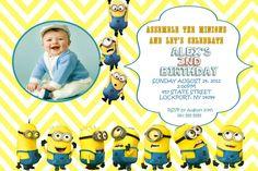 create own minion birthday invitations modern templates rhett s