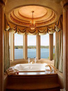 Bathroom Ideas: Beautiful Canopy above the Tub!