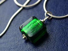 Short Necklaces – EMERALD CHARM NECKLACE @ SILVER 925 – a unique product by…