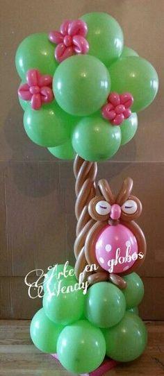 árbol en globo