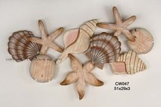 Wooden Hand Carved Shell Cluster by Tropicalwallart on Etsy Starfish Wall Decor, Nautical Wall Decor, Coastal Decor, Coastal Living, Hand Carved, Hand Painted, Tropical Home Decor, Tropical Furniture, Tropical Architecture