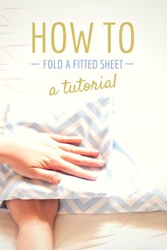 WATCH - how to fold a fitted sheet the proper way. FINALLY! Where has this tip been my whole life?