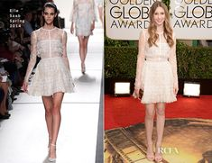 Taissa Farmiga In Elie Saab – 2014 Golden Globe Awards