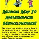 """Back to School Math Song (""""Musical Map to Mathematical Marvelousness"""") is everything your students need to know to be successful in math; all conde..."""