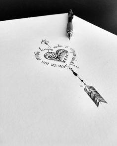 """WEBSTA @ateliekefonascimento Peça montada para tatuagem da cliente @thamy.isis. Composição montada com base em uma frase do @edu_falaschi: """"Para um coração limpo, nada é impossível"""", usando um coração ornamental e uma flecha concluindo o conjunto. Arte registrada. www.kefonascimento.com.br"""