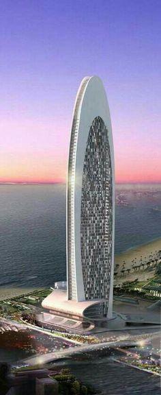 Beach Front Hotel, Dubai, UAE. M.G.