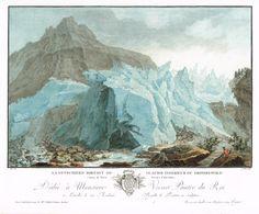 La Lutschinen sortant du glacier inférieur du Grindelwald, Canton de Berne, Province d'Interlaken - Aquatinte - gravure imprimée en couleurs par Jean-François JANINET (1752-1814) d'après Caspar WOLFF (1735-1798) - MAS Estampes Anciennes - MAS Antique Prints